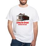 Living the Dream - Clarksdale, Mississippi White T