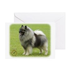 Keeshond 9J28D-01 Greeting Cards (Pk of 10)