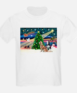 Xmas Magic & S Husky T-Shirt