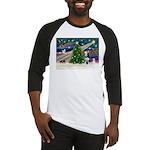 Xmas Magic & Siberian Husky Baseball Jersey