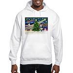 Xmas Magic & Siberian Husky Hooded Sweatshirt
