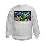 Xmas Magic & Siberian Husky Kids Sweatshirt
