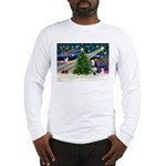 Xmas Magic & Siberian Husky Long Sleeve T-Shirt