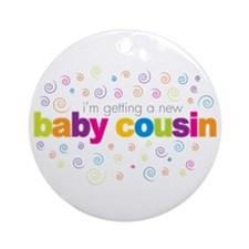 baby cousin t-shirt Ornament (Round)