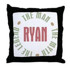 Ryan Man Myth Legend Throw Pillow