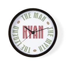 Ryan Man Myth Legend Wall Clock