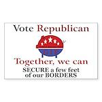Border Pig Rectangle Sticker 50 pk)