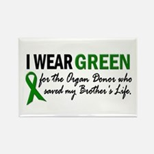 I Wear Green 2 (Brother's Life) Rectangle Magnet