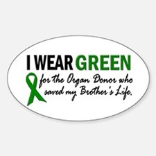 I Wear Green 2 (Brother's Life) Oval Decal