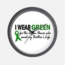 I Wear Green 2 (Brother's Life) Wall Clock