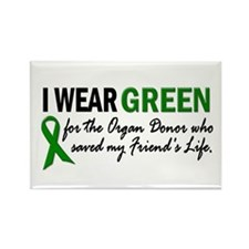 I Wear Green 2 (Friend's Life) Rectangle Magnet