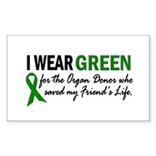 I Wear Green 2 (Friend's Life) Rectangle Decal