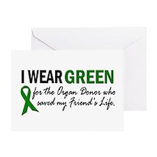 I Wear Green 2 (Friend's Life) Greeting Card