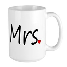 Mrs (Red Heart) Mug
