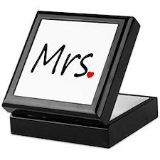 Mrs (Red Heart) Keepsake Box