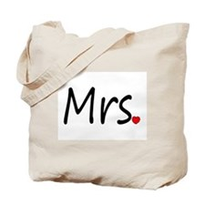 Mrs (Red Heart) Tote Bag