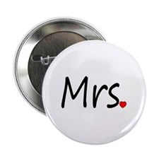 "Mrs (Red Heart) 2.25"" Button"
