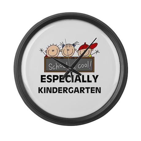 Kindergarten Is Cool Large Wall Clock