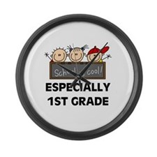 1st Grade is Cool Large Wall Clock