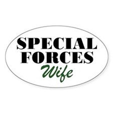Special Forces Wife Oval Decal