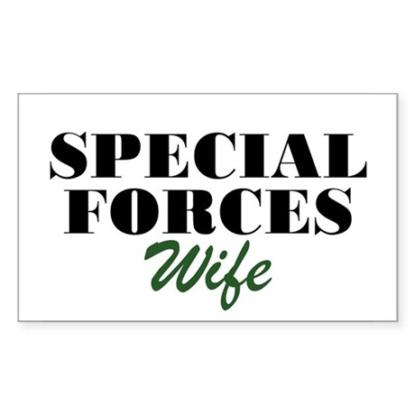 Special Forces Wife Rectangle Sticker
