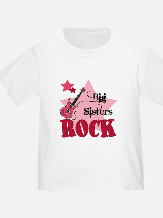 Big Sisters Rock Guitar T