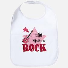 Big Sisters Rock Guitar Baby Infant Toddler Bib