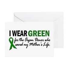 I Wear Green 2 (Mother's Life) Greeting Card