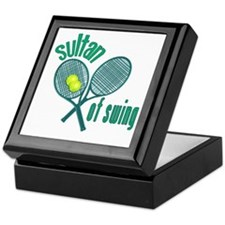Crossed Tennis Rackets Keepsake Box