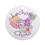Lechang China Map Ornament (Round)