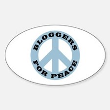 Bloggers For Peace Oval Decal