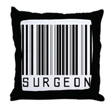 Surgeon Barcode Throw Pillow