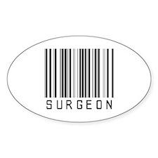 Surgeon Barcode Oval Sticker (10 pk)