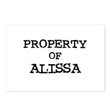 Property of Alissa Postcards (Package of 8)