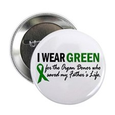 "I Wear Green 2 (Father's Life) 2.25"" Button"