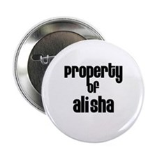 """Property of Alisha 2.25"""" Button (100 pack)"""