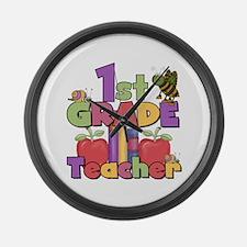 1st Grade Teacher Large Wall Clock