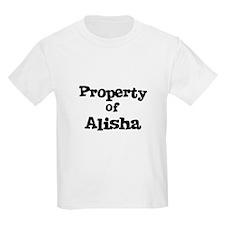 Property of Alisha Kids T-Shirt