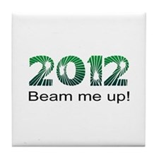 2012 Beam Me Up Tile Coaster