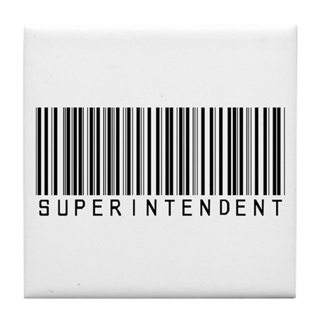 Superintendent Barcode Tile Coaster
