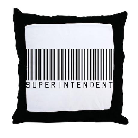 Superintendent Barcode Throw Pillow