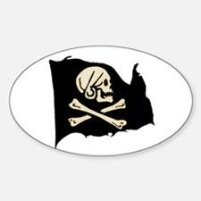 Henry Avery Pirate Flag Oval Decal