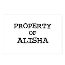 Property of Alisha Postcards (Package of 8)