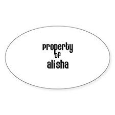 Property of Alisha Oval Decal