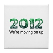 Moving On Up Tile Coaster