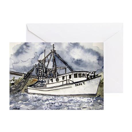 nautical marine seascape boat Greeting Cards (Pk o