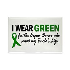 I Wear Green 2 (Uncle's Life) Rectangle Magnet