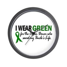 I Wear Green 2 (Uncle's Life) Wall Clock