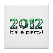 2012 Party Tile Coaster