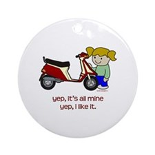 Scooter Girl Ornament (Round)